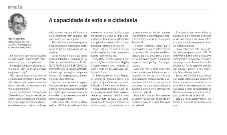 A capacidade de voto e a cidadania